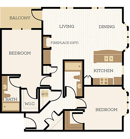 2 Bedroom Apartment Floor Plans Chelsea At Juanita Village - 2-bedroom-apartment-floor-plans