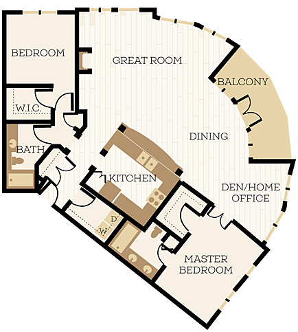 2 Bedroom Apartment Floor Plans Chelsea At Juanita Village